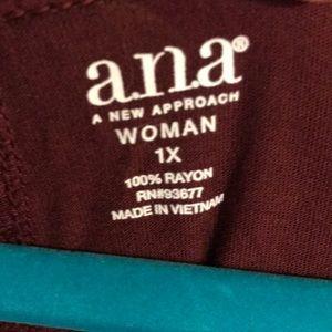 a.n.a Tops - Ana burgundy shirt